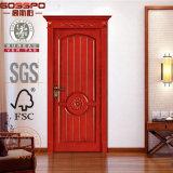 Puertas de madera talladas Calssic del catálogo para los chalets (GSP2-071)