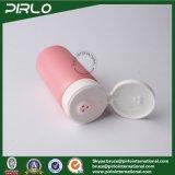 Botella 150ml 5 oz Polvo de talco plástico de color rosa botella frasco de boca ancha polvo Shaker con tirón Botella polvo Cuidado de la piel superior del casquillo del bebé