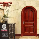 Porta de entrada arqueada madeira da entrada da casa de campo do apartamento (GSP2-041)