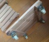 La madera de la bandeja de planta cuadrada, sembradora de rueda