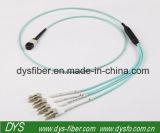 12 réalimentation optique Multi-Fiber à haute densité du faisceau Om3 MTP-MTP