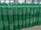 ISO9809 Qualidade Alta 40L de alta pressão de dióxido de carbono de argônio nitrogênio oxigênio cilindro de aço sem costura