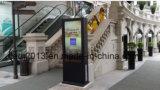 doppelter mit Seiten versehener Note 65inch LCD-Bildschirmanzeige-Kiosk für Outdoor