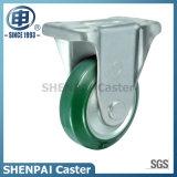 3 인치 녹색 강철 코어 고무 엄밀한 피마자 바퀴