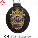 저희를 위한 주문 Leather 및 Metal Police Badge
