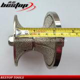진공에 의하여 놋쇠로 만들어지는 다이아몬드 수동 윤곽을 그리는 바퀴 50mm 간격