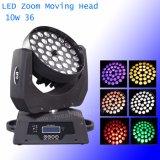 36PCS*10W 6in1 5in1 4in1 LED bewegliche helle Hauptwäsche