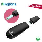 Pluma seca de la hierba del cigarrillo de Kingtons Vape Mods 2017 de la mamba electrónica del negro con 12 meses de garantía