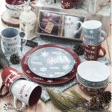 Rood Grijs Weinig Mok van de Dag van Kerstmis van de Ster Vrolijke 12oz