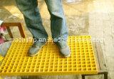 Grata concava ad alta resistenza della parte superiore FRP, maglia antiscorrimento e quadrata 20*20mm