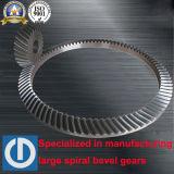 Коническое зубчатое колесо угла высоты зубца 30 специальное большое спиральн