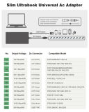 Cargador Adaptador universal 45W Ultrabok para Sony, Lenovo, Acer