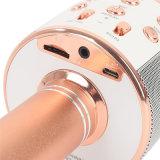 Juego sin hilos Handheld portable sin hilos Ws858 del TF MP3 del soporte de la familia KTV del hogar del altavoz del micrófono de Bluetooth del Karaoke mini