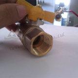 Válvula de bola de água de bronze da alça de borboleta (YD-1022)