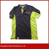 Kundenspezifische kurze Hülsen-Baumwollmann-Polo-Hemden (P45)