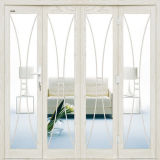 Design comercial quatro painéis Kfc porta em alumínio cor branca