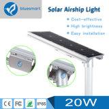 Luz de calle al aire libre ahorro de energía solar del sensor del LED