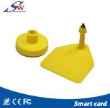 134kHz 도살 궤도 감시를 위한 노란 RFID 동물성 귀 꼬리표