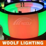 현대 이동할 수 있는 라운드 LED 바 카운터
