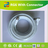 18AWG Solid CCS 21% Conductivity Conductor Black RG6 Coaxial Cable