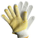 Пвх пунктирной хлопок перчатки