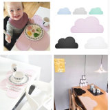 Cute Cloud Shape Silicone Placemat Baby Kids Mesa de jantar Mats