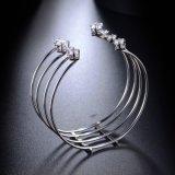 Armbanden van het Manchet van CZ van de Familie van de Juwelen van het koper de Materiële voor altijd Duidelijke Geocentric