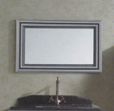 Floor Modern Mirrored Stainless Steel Bathroom Cabinet Golden (JN-88820)の銀