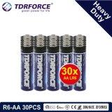 1.5V China Fabrik-Zink-Kohlenstoff-Batterie-Großhandelspreis (R6-AA 48PCS)