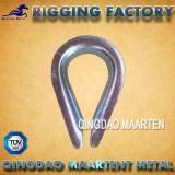 ハードウェアの索具の鋼鉄Galvanied DIN6899Aワイヤーロープの指ぬき