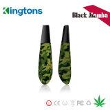 Pluma seca de la hierba de la nueva de la llegada de la pluma del vaporizador de Kingtons mamba del negro con patente