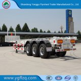 Het zelf-Dumpt Koolstofstaal van het vliegwiel 2/3 Aanhangwagen van de Container van het Skelet van Assen voor Vervoer van de Container 20/40FT