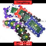 760 PCS-Schürhaken-Chipset-engagierte Chipträger ALUMINIUMABS Plastikschürhaken-Lehm-Chip-Kasten (YM-FMGM001)