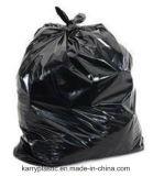 Sac d'ordures en plastique noir matériel de PE