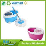 Bleu et denteler la lavette magique de la rotation 360 avec le traitement escamotable