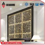 Material compuesto de aluminio del CNC de Ideabond de la pantalla opcional del corte
