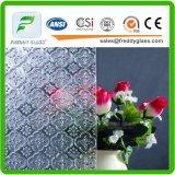 a flama do espaço livre de 2.5-12mm modelou/vidro rolada/figurada com CE, CCC, ISO9001