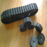 La chenille en caoutchouc du robot 100*20*76 avec les pignons de 250 mm de diamètre
