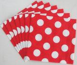 Lunares de nuevo diseño de las servilletas de papel desechables para la boda