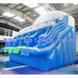 子供および大人は大きく膨脹可能な水スライドか最も大きく膨脹可能なスライドをカスタマイズした