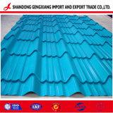 Strato ondulato preverniciato del tetto di Galvanized/PPGI per la Camera d'acciaio
