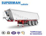頑丈な乾燥した貨物ダンプカーのトレーラーかダンプのトラックのトレーラーを半ひっくり返すこと