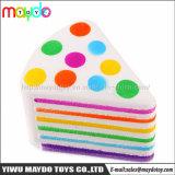 새로운 질퍽한 짜기 무지개 삼각형 케이크 느린 일어나는 아이 장난감 장식 선물