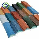 La diferencia de diseño y color teja metálica recubierta de piedra