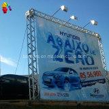 Bandeira do cabo flexível do vinil do PVC de Frontlit do quadro de avisos do tamanho do anúncio ao ar livre grande