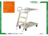 Supermarkt-Plattform-Jobstepp-Strichleiter-LKW-Karre