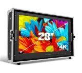 """4K de resolución Ultra HD 28"""" 3G-SDI MONITOR Maleta Maleta Caja de metal"""