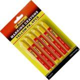 6PCS 비독성 방수 표하기 크레용 마킹 펜 마커 황색