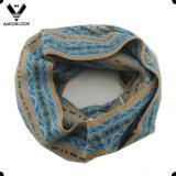 Sciarpa multicolore del ciclo dell'Fashionable Custom Jacquard Pattern della signora