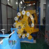 Colocação do cabo de fio do poder - acima da máquina